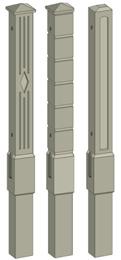 столбы с гладкой и рельефной поверхностью