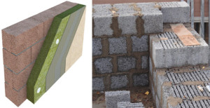 Кладка блоков керамзитобетона