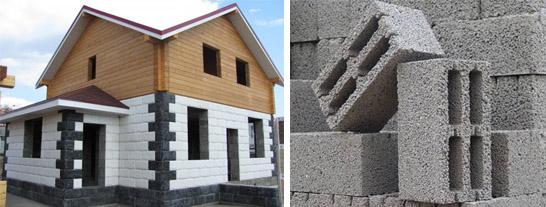 Строительство дома из керамзитобетонных блоков