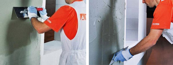 Штукатурка для газобетона наружная (фасадная) и внутренняя, технология оштукатуривания