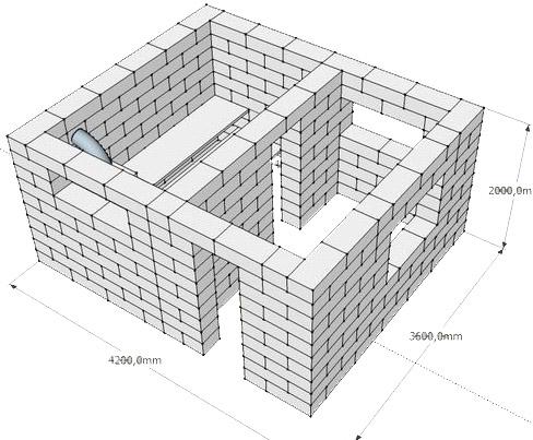 Проект бани из газосиликатных блоков