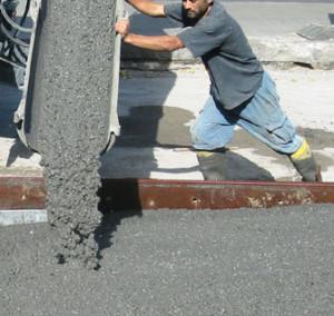 Заливка бетоном фундамента