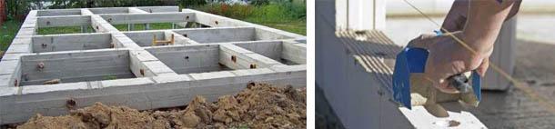 Ленточный монолитный фундамент для дома из блоков пенобетона