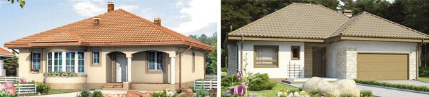 Одноэтажные жилые дома из блоков газобетона