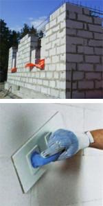 Отделка стен из пенобетона