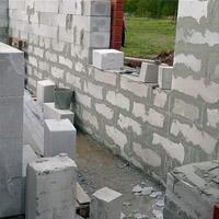 Строительство стен дома из газосиликата