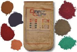 Цветной цемент - выбор подходящего красителя