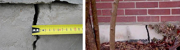 трещины и расколы в бетонном фундаменте