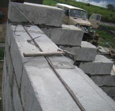Армирование стен из блоков