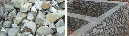 Бутовой каменный фундамент