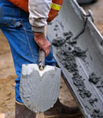 Замес бетона