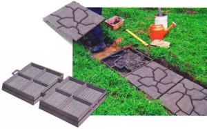 Приготовление бетонного раствора и заливка в формы