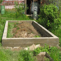 Фундамент ленточный под теплицу на даче