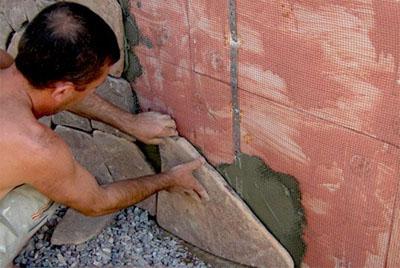 Облицовка при помощи натурального камня