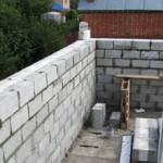 Описание технологии кладки стен из шлакоблока по шагам