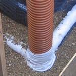 Пластиковые трубы в строительстве фундамента столбчатого вида