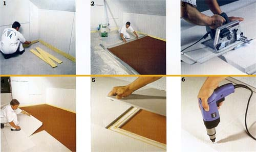 Процесс монтажа насыпного пола Knauf