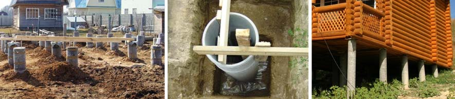Хризотилцементные трубы для основания дома