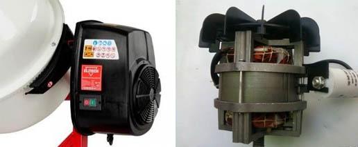 Двигатель для бетоносмесителя