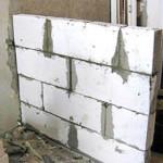Кладка перегородки из пенобетонных блоков своими руками