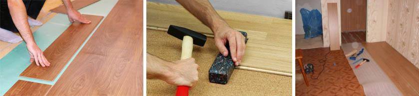 Монтаж ламината на бетон