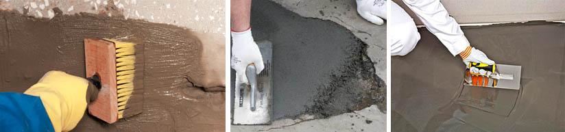 Нанесение ремонтных растворов