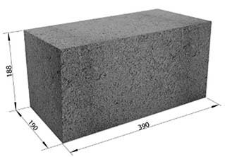 Размеры бетонного изделия