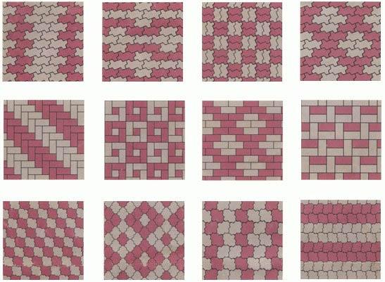 Разнообразие форм брусчатки