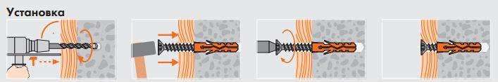 Схема установки крепежного элемента