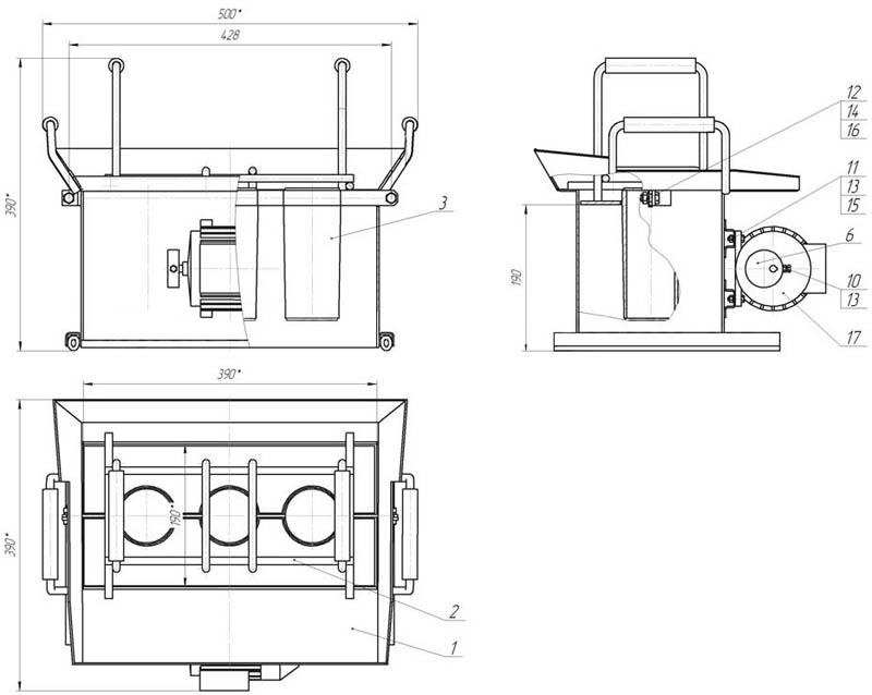 Чертеж оборудования для производства шлакоблоков