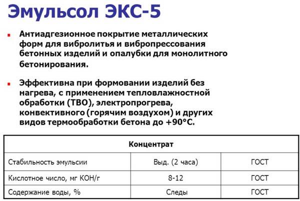 Эмульсол ЭКС-5
