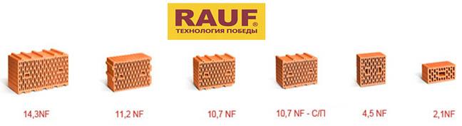 Поризованные керамические блоки Rauf