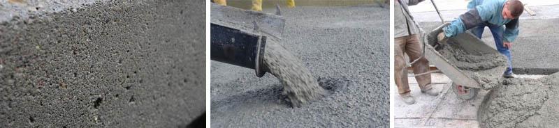 Примененин бетонных смесей