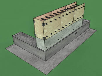 Самодельная конструкция для возведения стен