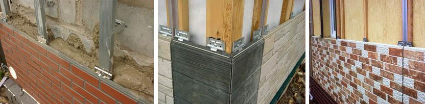 Установка фасадных плит