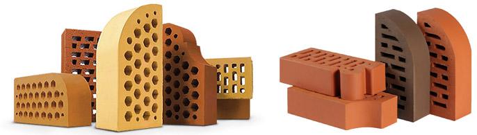 Разнообразие форм лицевых блоков