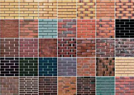 Разнообразие цветовых решений облицовки