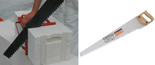 Ножовка для работ с газобетоном