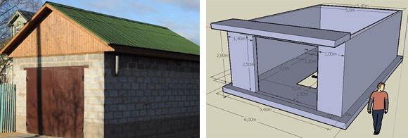 Строим гараж из керамзитобетонных блоков