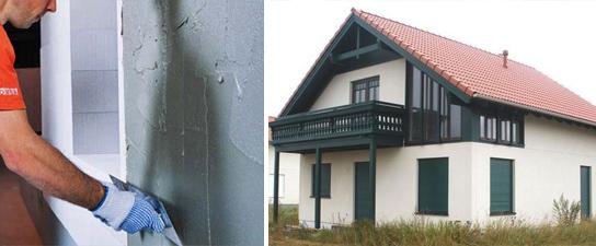 Штукатурка стен дома из газобетона