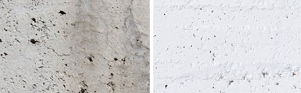 Белый и серый цемент