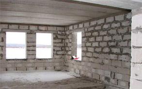 Внутренняя отделка загородного дома из газобетона