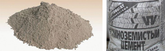 Глиноземистый быстротвердеющий цемент