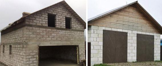Как построить гараж из газобетона