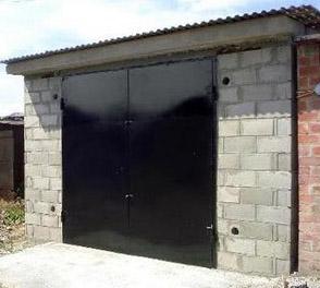Проект гаража из газобетона