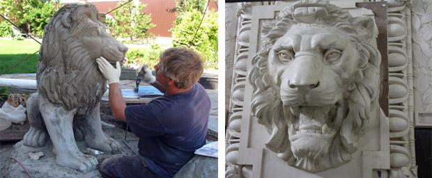Скульптурные композиции из бетона