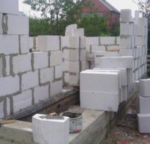 Стены дома из блоков газобетона