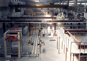 Непрерывное производство блоков на заводе
