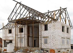 Строительство коттеджа из блоков ячеистого бетона