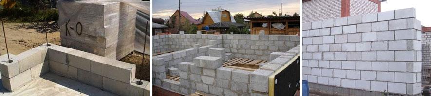 Возведение пеноблочных стен